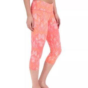 ALO coral orange pink print airbrush crop legging